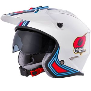Casque VOLT - MN1 - WHITE RED BLUE GLOSSY  White Red Blue