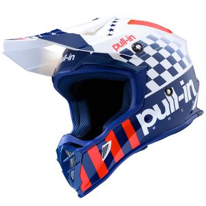 Casque cross MASTER PATRIOT 2020 Bleu/Blanc/Rouge