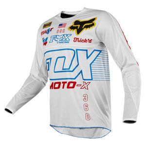 Maillot Cross Fox 360 - Limited Edition - White Red Blue 2018