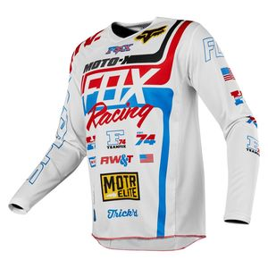 Maillot Cross Fox 180 - Special Edition - White Red Blue 2019