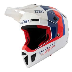 Casque cross PERFORMANCE - GRAPHIC - WHITE BLUE RED 2021 White Blue Red