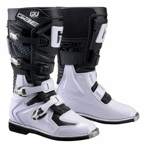 Bottes cross GXJ BLACK / WHITE JUNIOR  Noir