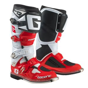 Bottes cross SG12 WHITE RED BLACK 2018 Blanc Rouge Noir