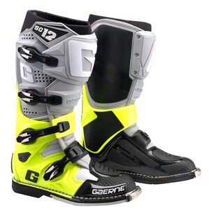 Bottes cross SG12 GREY / YELLOW FLUO / BLACK 2021 Gris/Jaune