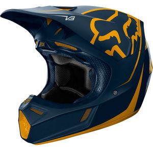 Casque Cross Fox V3 - Kila - Navy Yellow 2019
