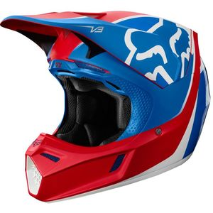 Casque Cross Fox V3 - Kila - Blue Red 2019