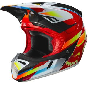 Casque Cross Fox V3 - Motif - Red Yellow 2019