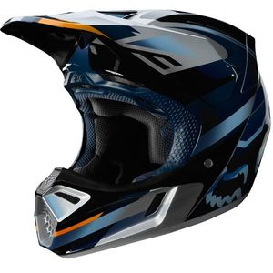 Casque Cross Fox V3 - Motif - Blue Silver 2019