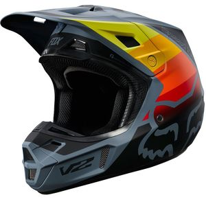 Casque Cross Fox V2 - Murc - Blue Steel 2019