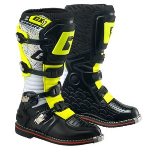 Bottes cross GX-1 GOODYEAR WHITE BLACK YELLOW 2018 Blanc Noir Jaune Fluo