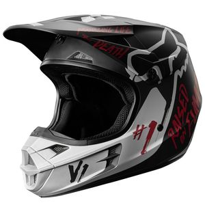Casque cross V1 RODKA SPECIAL EDITION 2018 Noir/Gris