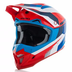 Casque Cross Acerbis Profile 4 - Bleu Rouge - 2018
