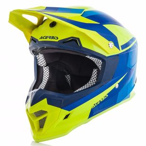 Casque Cross Acerbis Profile 4 - Jaune Fluo Bleu - 2018