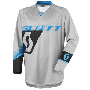 Maillot Cross Scott Destockage 350 Dirt Gris Bleu 2016