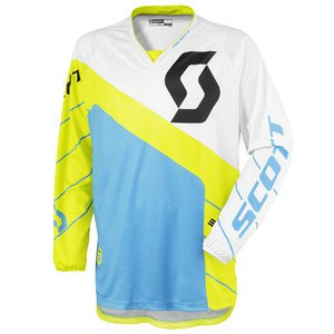 Maillot cross Scott destockage 350 RACE  VERT BLEU 2016
