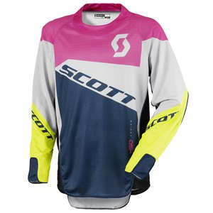 Maillot cross Scott destockage 450 PODIUM  ROSE VERT 2016