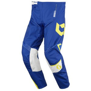 Pantalon Cross Scott Destockage 350 Dirt Bleu Jaune 2016