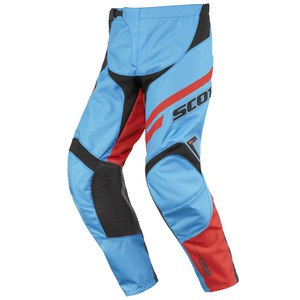 Pantalon Cross Scott Destockage 350 Track Junior Bleu Orange 2016