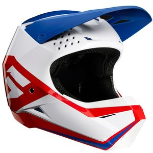 Casque cross WHIT3 LABEL WHITE RED BLUE ENFANT  Bleu