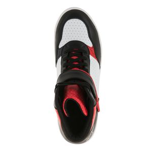 Baskets LUNAR - BLACK WHITE RED  Black/White/Red