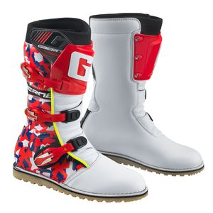 Bottes cross BALANCE CLASSIC CAMO WHITE RED BLUE 2018 Blanc Rouge Bleu