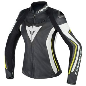 Blouson Dainese Assen Lady Leather Black White Yellow