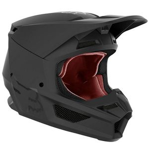 Casque cross V1 - BLACK MATT 2020 Black Matt