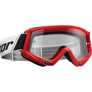 Masque cross YOUTH COMBAT - RED BLACK  Rouge/Blanc