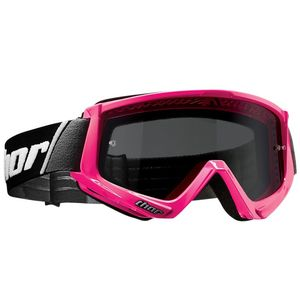 Masque cross COMBAT SAND FLO PINK BLACK 2020 Rose fluo/Noir
