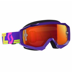 Masque cross HUSTLE MX - VIOLET JAUNE - ECRAN IRIDIUM WORKS -  2018 Violet/Jaune