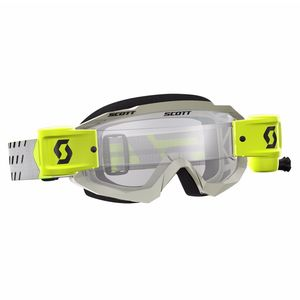 Masque cross HUSTLE MX WFS - GRIS JAUNE - ECRAN CLAIR -  2018 Gris/Jaune
