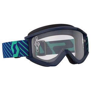 Masque Cross Scott Recoil Xi - Bleu Vert - Ecran Clair Works - 2018