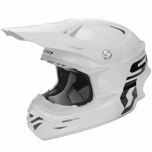 Casque Cross Scott 350 Pro - Blanc - 2018
