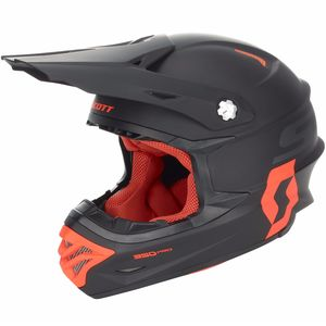 Casque Cross Scott 350 Pro - Noir Orange - 2018