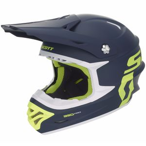 Casque Cross Scott 350 Pro - Bleu Jaune - 2018