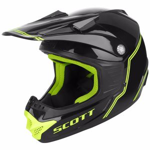 Casque Cross Scott 350 Pro Kid - Noir Jaune - 2018