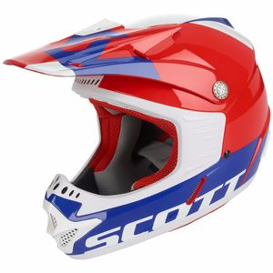Casque Cross Scott 350 Pro Kid - Rouge Bleu - 2018