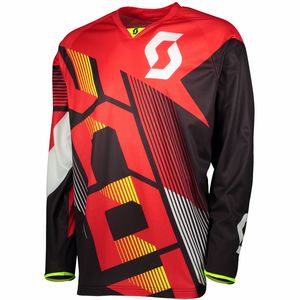 Maillot cross 350 DIRT - ROUGE NOIR - 2018 Rouge/Noir