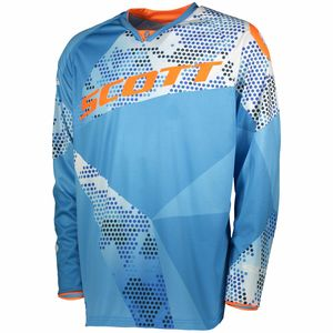 Maillot cross 350 RACE JUNIOR - BLEU ORANGE -  Bleu/Orange