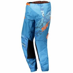 Pantalon cross 350 RACE JUNIOR - BLEU ORANGE -  Bleu/Orange