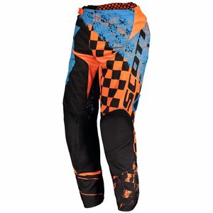 Pantalon cross 350 TRACK JUNIOR - BLEU ORANGE -  Bleu/Orange