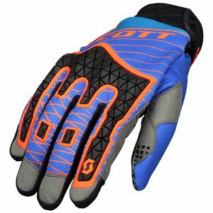 Gants cross ENDURO - BLEU ORANGE - 2018 Bleu/Orange