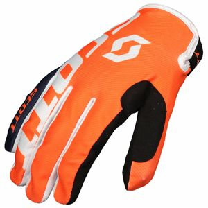 Gants cross 350 A2 JUNIOR - BLEU ORANGE -  Bleu/Orange