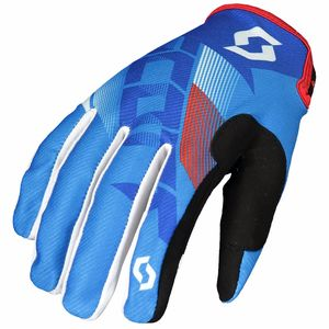 Gants cross 350 DIRT - BLEU BLANC - 2018 Bleu/Blanc