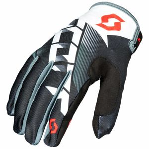 Gants cross 350 DIRT - NOIR BLANC - 2018 Noir/Blanc