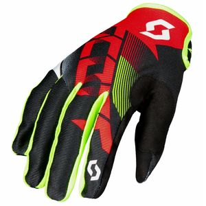 Gants cross 350 DIRT - ROUGE NOIR - 2018 Rouge/Noir