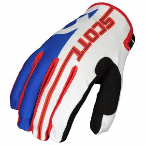 Gants cross 350 TRACK JUNIOR - BLEU ROUGE -  Bleu/Rouge