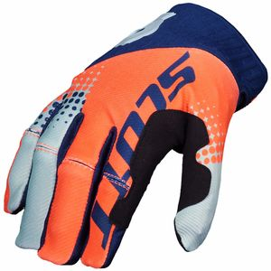 Gants cross 450 ANGLED - ORANGE BLEU - 2018 Orange/Bleu
