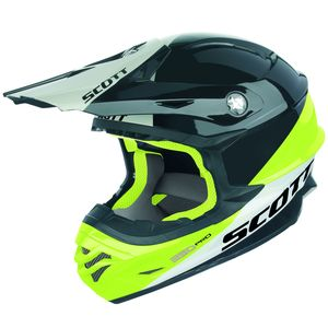 Casque Cross Scott 350 Pro Trophy - Noir Jaune - 2018
