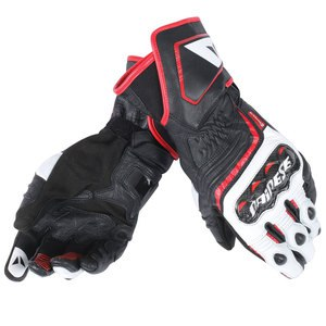 Gants Dainese Carbon D1 Long Lady Black White Red